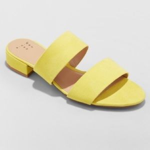 A new day yellow sandals